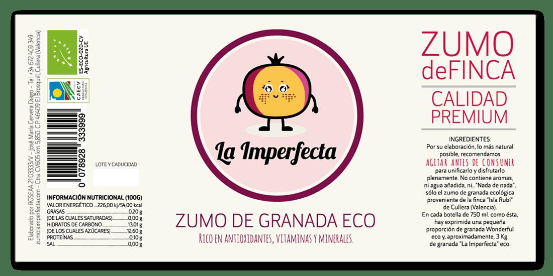 Etiqueta Zumo La Imperfecta